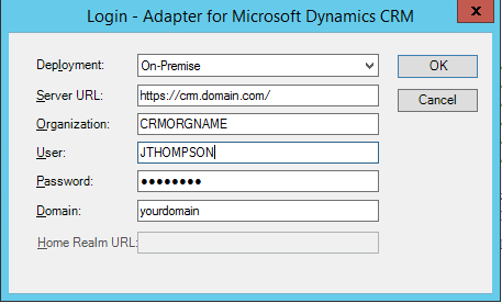 Error ID3242- Connecting Scribe to Dynamics CRM 2